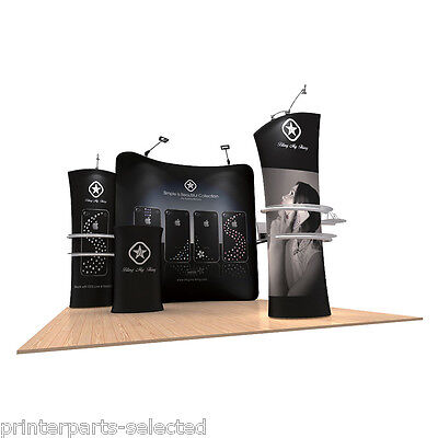 10ft Pop Up Booth Fabric Tension Display Wall System Trade Show Graphic Print