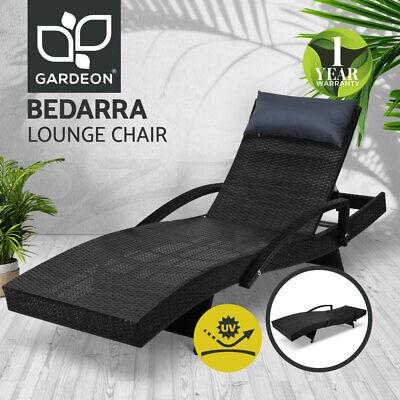 Garden Furniture - Gardeon Outdoor Sun Lounge Setting Rattan Wicker Lounger Garden Patio Furniture