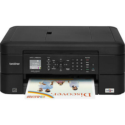 Brother Wireless All-In-One Color Inkjet Printer Scanner Copier Fax MFC-J485DW