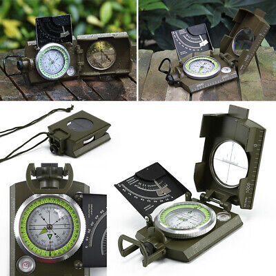 Professional Military Army Metal Camping Hiking Sighting Compass Clinometer