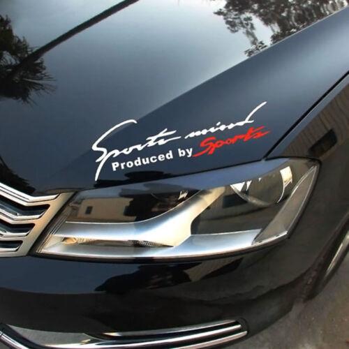 Reflective Sports Mind Letter Logo Decal Vinyl Car Stickers Headlight Sticker