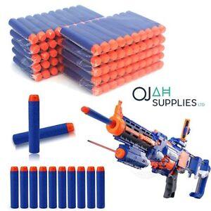 100PCS Gun Soft Refill Bullets Darts Round Head Blasters for Nerf N-strike Toy