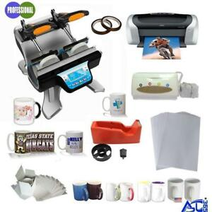 Double Station Mug Heat Press Machine Epson printer Papar Tape CISS KIT (000972)