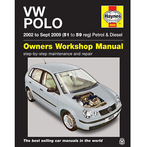 New-Haynes-Manual-VW-Polo-02-09-Car-Workshop-Repair-Book-4608-Volkswagen-Fix