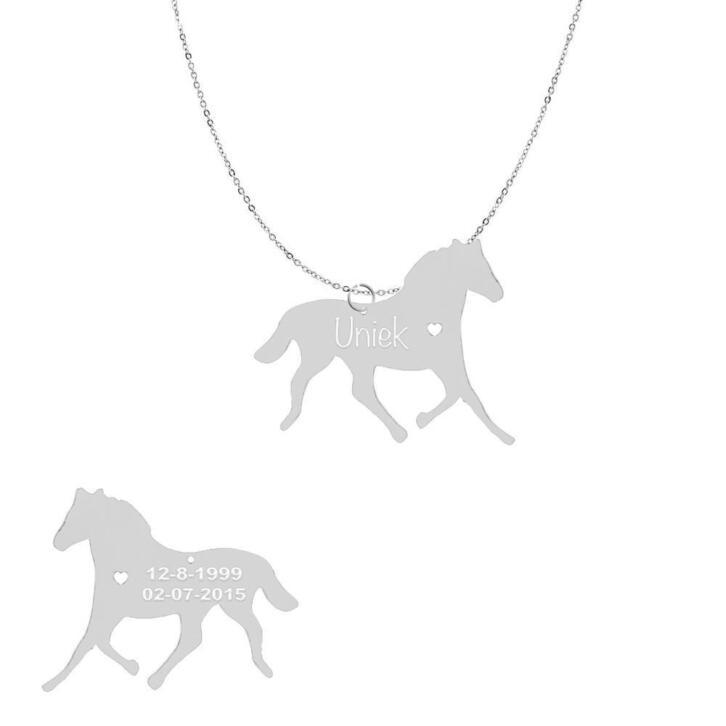 Ketting met hanger Paard