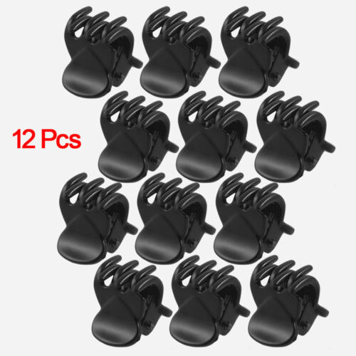 Newest 12 Pcs Black Plastic Mini Hairpin 6 Claws Hair Clip C