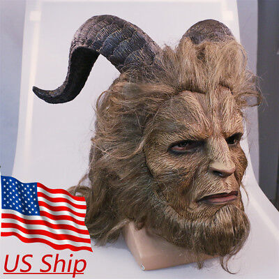 2018 Beauty And The Beast Mask Prince Mask Cosplay Horror Beast Mask Handmade  - Beast Mask