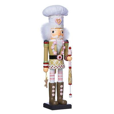 "[Kurt Adler Hollywood Nutcracker - Gingerbread Christmas Nutcracker 17"" C6022 New</Title]"