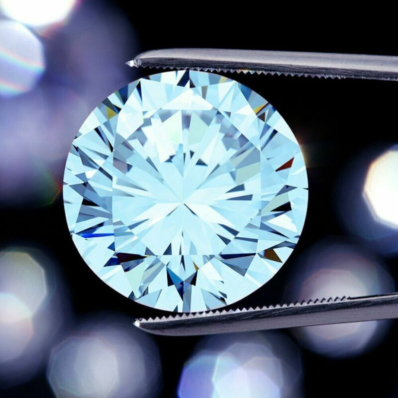 0.50 CT To 5.00 CT Light Blue Loose Moissanite Diamond Round Cut Use For Jewelry