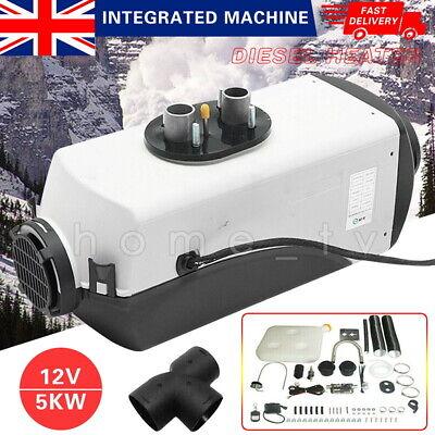 UK Air Diesel Heater LCD Monitor Remote Planar Silencer Trucks Boat Car 5KW 12V