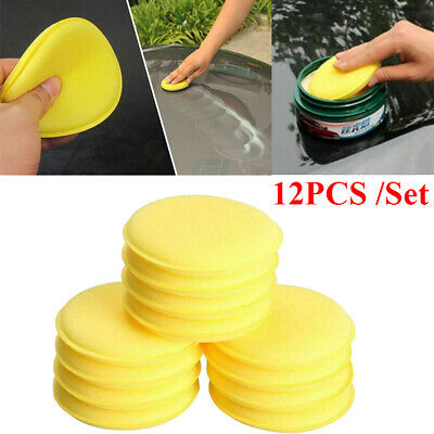 Waxing Polish Wax Foam Sponge Applicator Pads For Cars Vehicle Glass Clean (Glasses Polishing)