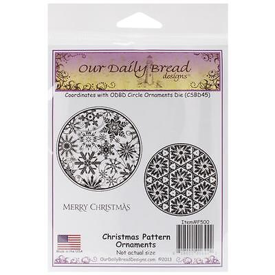 Our Daily Bread Cling Stamps Christmas Pattern Ornaments  New
