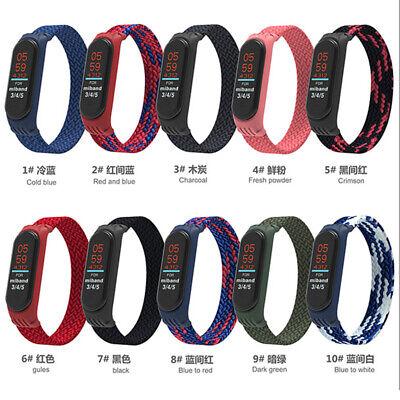 Nylon Woven Sports Men Women Watch Band For Xiaomi Mi Band 5 4 3 Smart Watch
