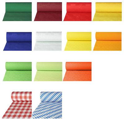 Papiertischdecken für Biertische, 50 x 1 m, günstige Einweg Tischdeckenrolle