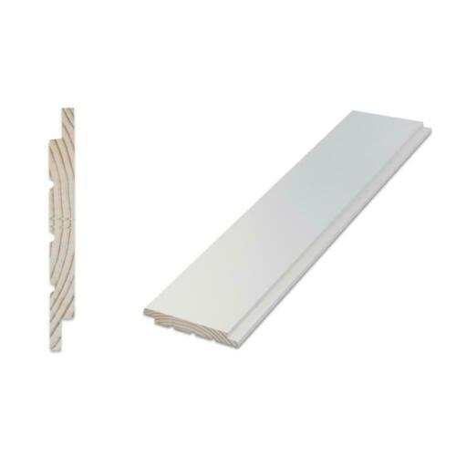 White Ship Lap Board 9/16 x 5-1/4 in. x 8 ft. d Pine Shiplap 6-Piece Pack
