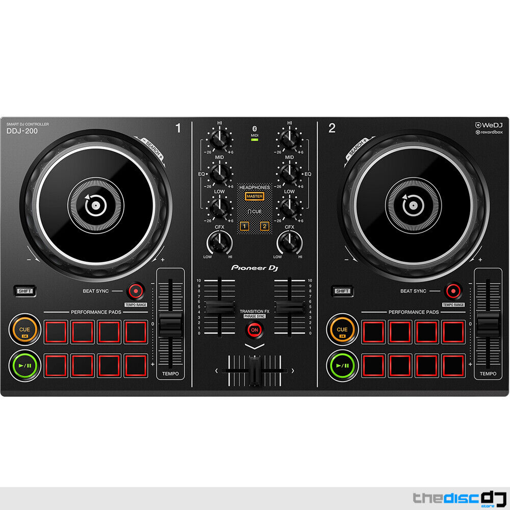 Pioneer DDJ-200 Wireless Smartphone DJ Controller & Software