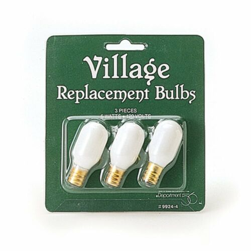 Department 56, Village Accessories, Replacement Light Bulb, Pack of 3 (56.99244)