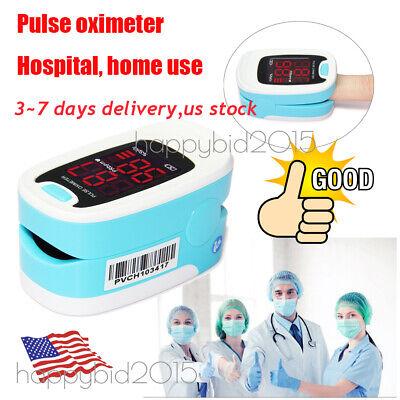 Medical Finger Tip Pulse Oximeter Blood Oxygen Meter Spo2 Heart Ratefree Ship