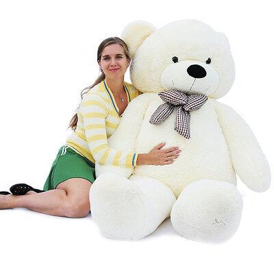 "Joyfay®78"" 200cm  6.5ft White Giant Teddy Bear Huge Plush Toy Valentine Gift"