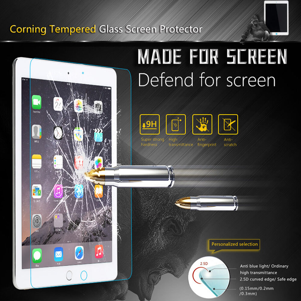 Premium Tempered Glass Screen Protector for iPad 2017 Air Mini 4 Pro 10.5 9.7
