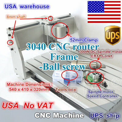 Us Stock 3040 Cnc Router Milling Engraver Enrgaving Machine Kit 300w Spindle