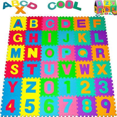 Monzana®86tlg Puzzlematte Kinder Spiel Teppich Boden Schaumstoff EVA Matte 3,6m²