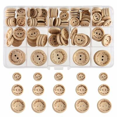 "AKORD Handmade""with Love"" Wooden Button (15mm, 20mm, 25mm Round Shape)"