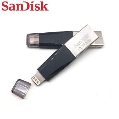 128GB SanDisk iXpand Lightning Mini USB 3.0 Flash Drive SDIX40N-128G for iPhone