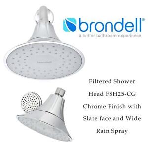 NEW VivaSpring Filtered Shower Head FSH25-CG | Chrome Finish with Slate face and Wide Rain Spray | for Softer Skin an...