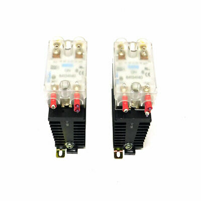 Lot Of 2 Crouzet Gn 84134140 100 Amp Solid State Relays W Heatsinks