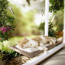50lb Cat Basking Window Hammock Perch Cushion Bed Hanging Shelf Seat Mounted