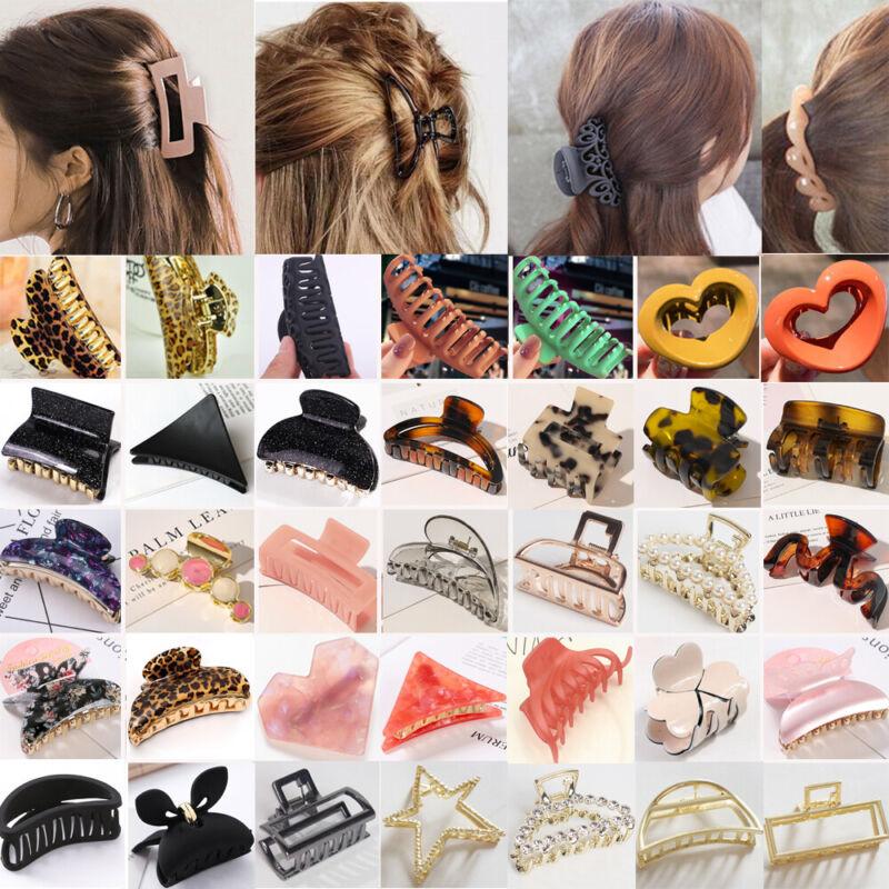 Women Plastic Hair Claw Banana Grip Hair Clip Girls Hairpin Crab Jaw Clamp Lot