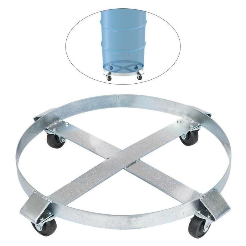 Drum Dolly 55 Gal 4 Wheel Swivel Casters Heavy Steel Frame Easy Roll 1000 Lbs