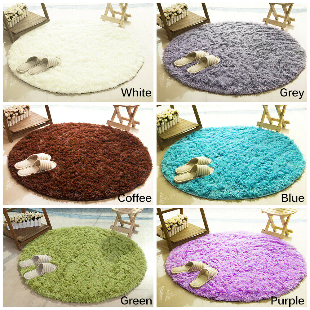 Circle Living Room Mat Rugs Carpet Doormat Floor Bedroom Non
