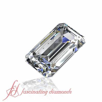 GIA Flawless Diamonds - 1/2 Carat Emerald Cut Diamond - Natural Diamond For Sale