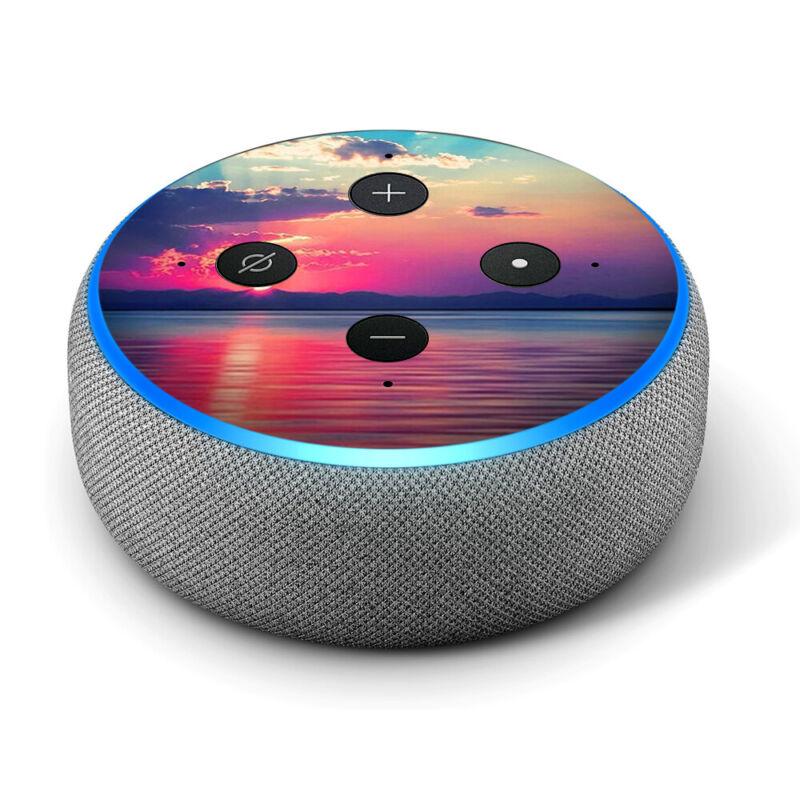 Vinyl Decal Skin for Amazon Echo Dot 3rd Gen - Sumertime Sun Rays Sunset