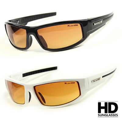 SPORT WRAP HD NIGHT DRIVING VISION SUNGLASSES YELLOW HIGH DEFINITION GLASSES L# (Yellow Sunglasses)