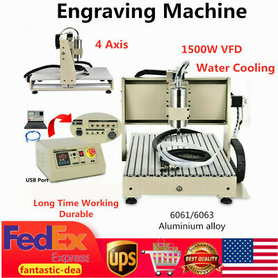 4 Axis 1.5kw 6040 Engraving Drilling Milling Machine Pcb Wood Cutter Usb Router
