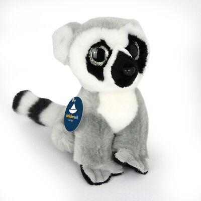 Lemur Stofftier (Stofftier Katta sitzend, Plüschtier, Kuscheltier, Lemur (H. ca. 18cm))