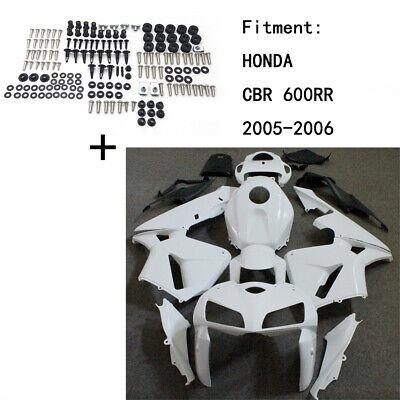 Unpainted ABS Body work Fairing Kit w/ screw For HONDA CBR 600RR 2005-2006