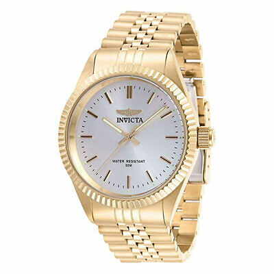 Invicta Men's Watch Specialty Silver Tone Dial Yellow Gold Bracelet 29384
