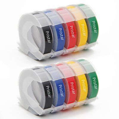 Replacement Dymo 3d Plastic Embossing Tapes For Embossing Label Makers New