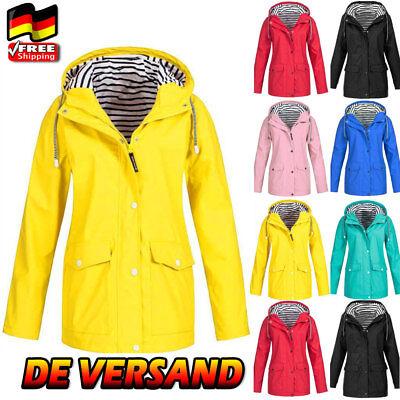 Damen Regenjacke Kapuzenjacke Regenmantel Wasserdicht Outdoor Windbreaker Herbst Herbst Mantel