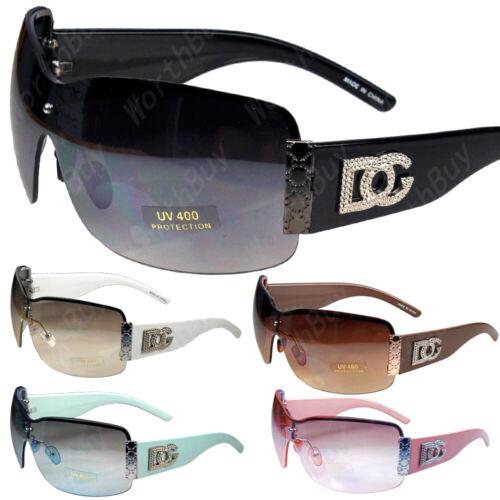 Metal Heart Large Oversized Wrap Around Shield Sunglasses Fashion Shades Big New