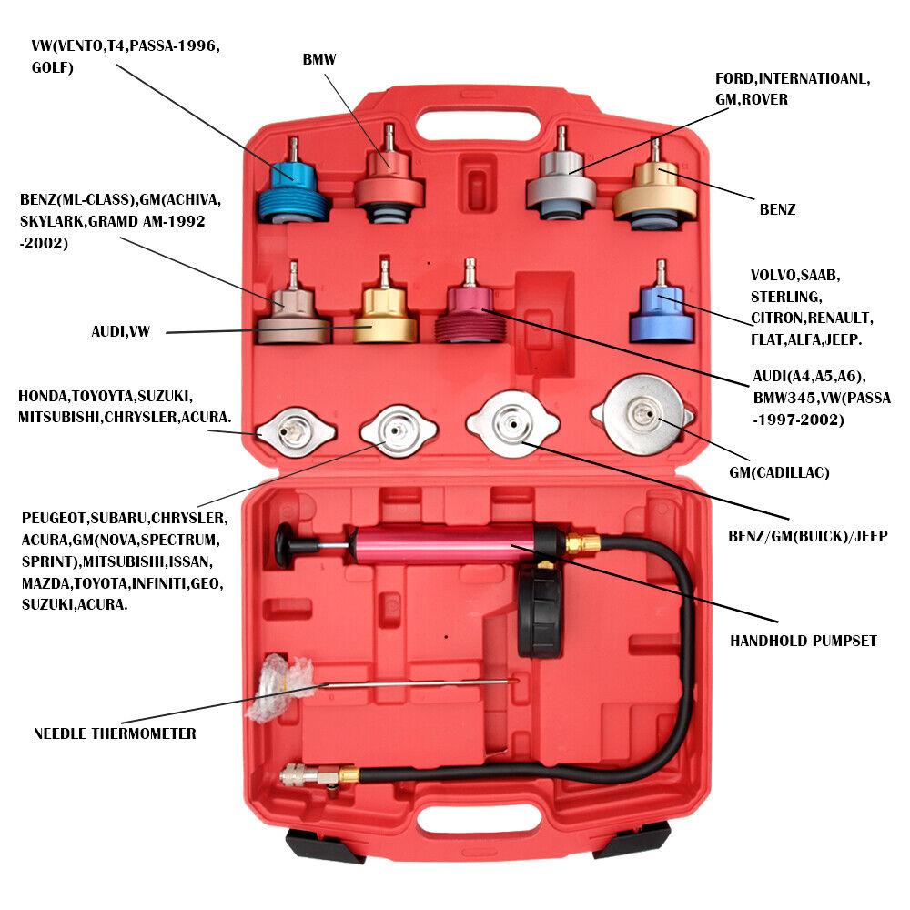 Owner Radiator Coolant Pressure Tester Cooling System Head Gasket Leak Detector