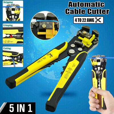 Self-adjusting Automatic Wire Striper Cutter Stripper Crimper Pliers Hand Tool