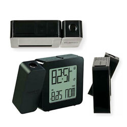 Oregon Scientific Atomic Projection Clock w/Indoor Temp & Calendar Alarm - Black