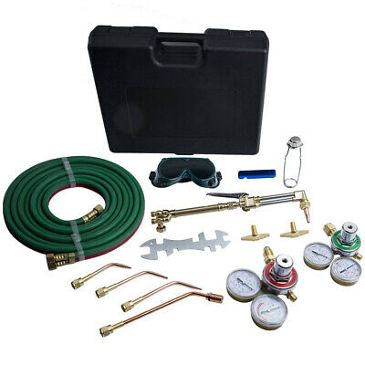 Gas Welding Cutting Pipe Kit Oxygen Acetylene Brazing For Victor Hose Nozzle