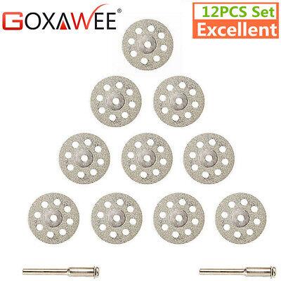 GOXAWEE 12pcs set Diamond Cutting Discs Wheel Cut Off Saw Blade 30mm Stone Glass