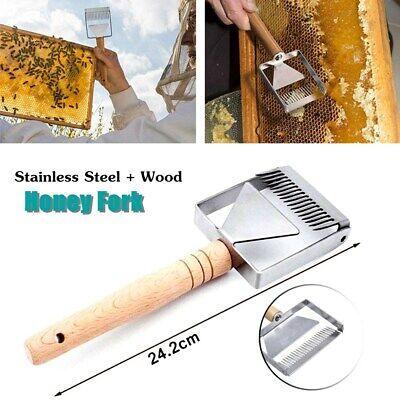 Heavy Duty Bee Hive Honey Fork Scraper Shovel Honey Uncapping Fork Scraper Knife